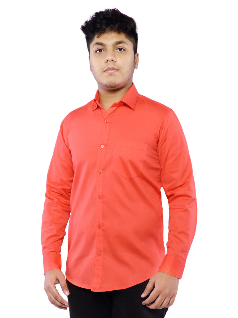 Cotton Full Sleeve Shirt for Men - Red