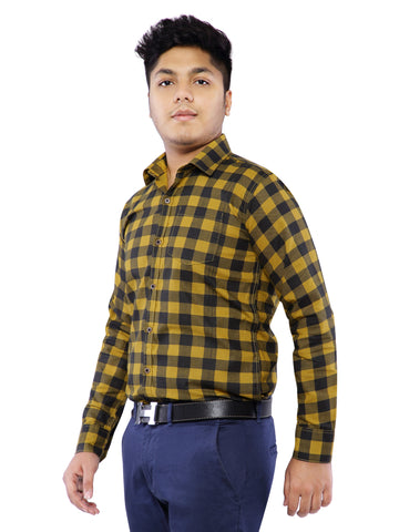 Combo of 2 Cotton Full Sleeve Check Shirt for Men - White-Yellow
