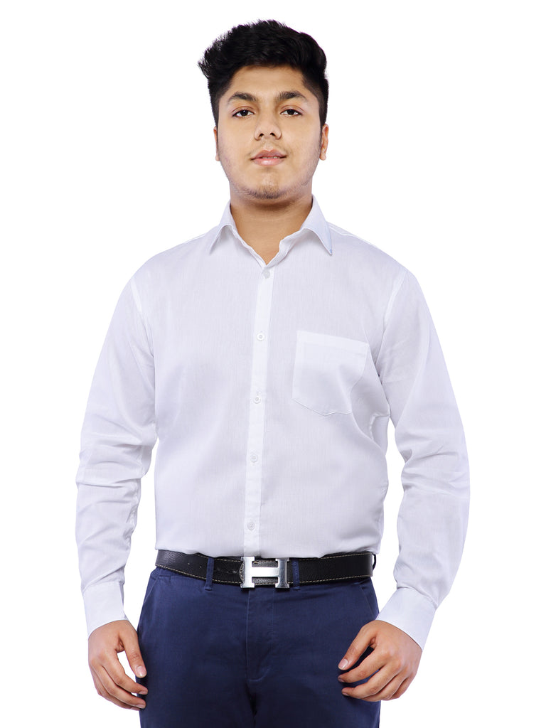 Combo of 2 Cotton Full Sleeve Shirt for Men - White-Black
