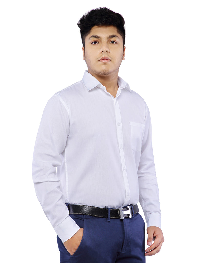 Combo of 2 Cotton Full Sleeve Shirt for Men - Rust-White