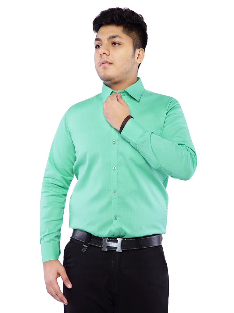 Combo of 2 Cotton Full Sleeve Shirt for Men - Green-SkyBlue