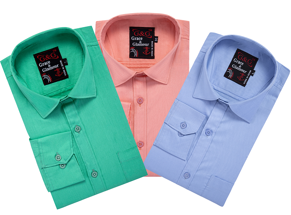Cotton Full Sleeve Casual Shirt for Men Combo (Pack of 3)