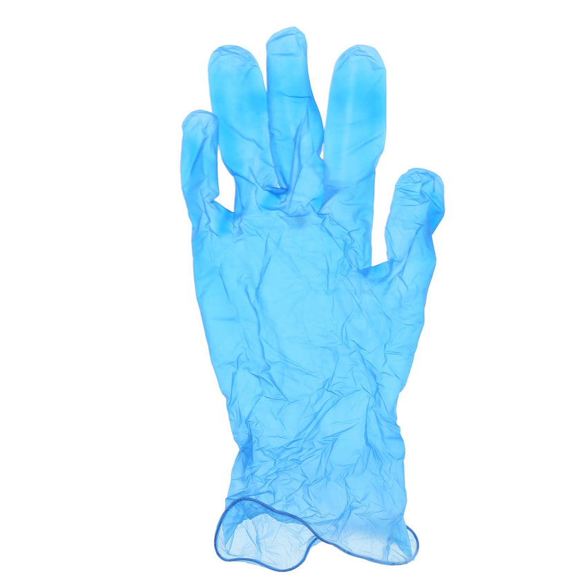 Odyssey Blue Vinyl Gloves, Lightly Powdered, Individual Glove