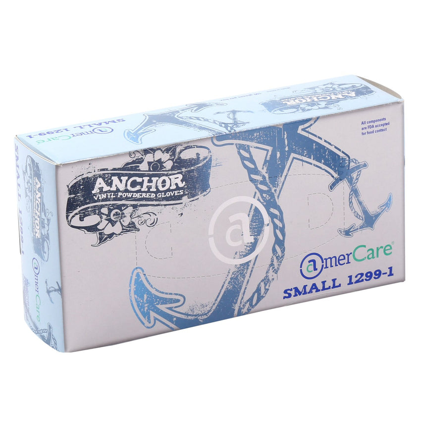 Anchor Vinyl Gloves, Lightly Powdered, Inner Box