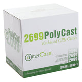 Polycast Embossed Gloves, Powder Free, Closed Case