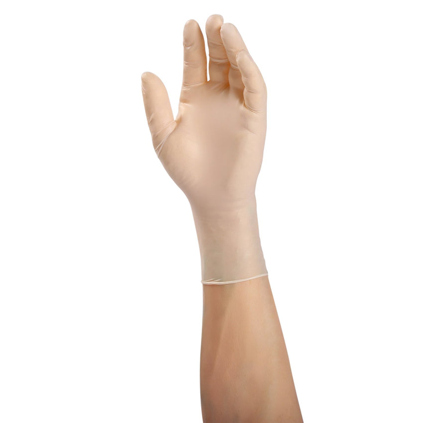Gladiator Synthetic Stretch Vinyl Gloves, Powder Free, Glove On Hand