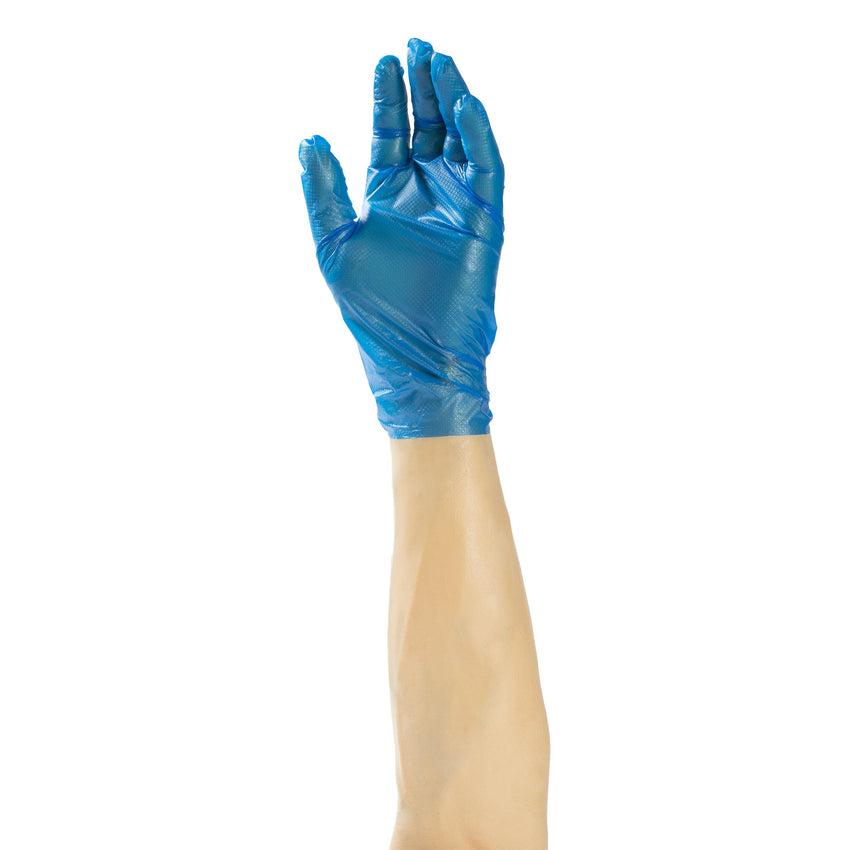 C2 Generation 3.0 Blue Hybrid Gloves, Powder Free, Glove On Hand