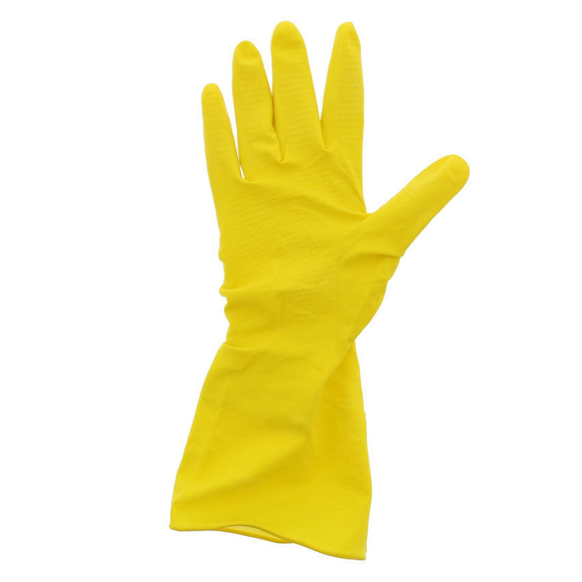 Neptune Yellow Latex Gloves, Flock Lined, Powder Free, Individual Glove