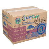 Grape Grip Nitrile Gloves, Exam Grade, Powder Free, Closed Case