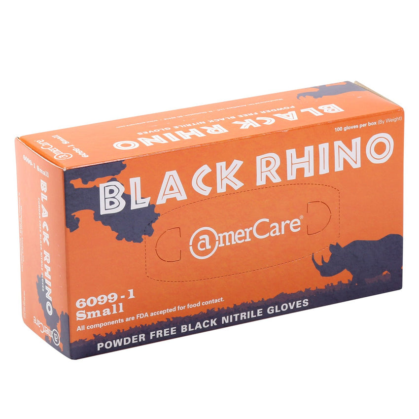 Black Rhino Nitrile Gloves, Powder Free, Inner Box