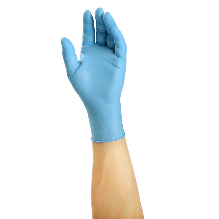 Nitra-Flex Nitrile Gloves, Exam Grade, Powder Free, Glove On Hand