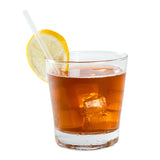 "5.75"" Jumbo Clear Straw, Unwrapped, Straw in Drink"