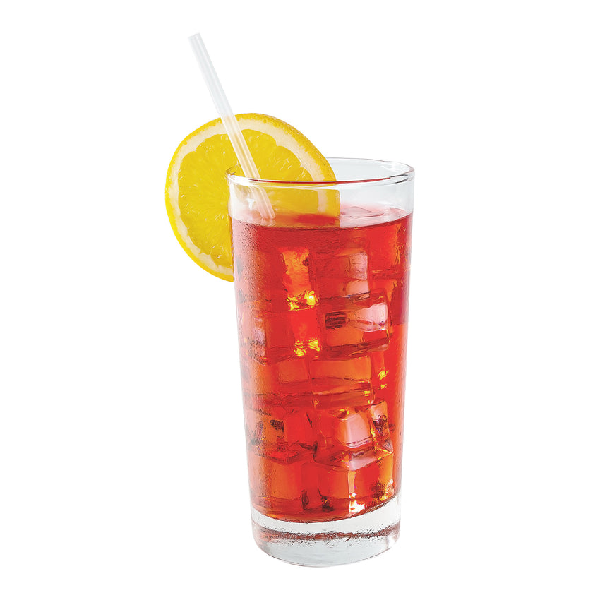 "7.75"" Jumbo Clear Straw, Poly Wrapped, Straw in Drink"