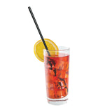 "10.25"" Jumbo Straw, Black, Paper Wrapped, Straw in Drink"
