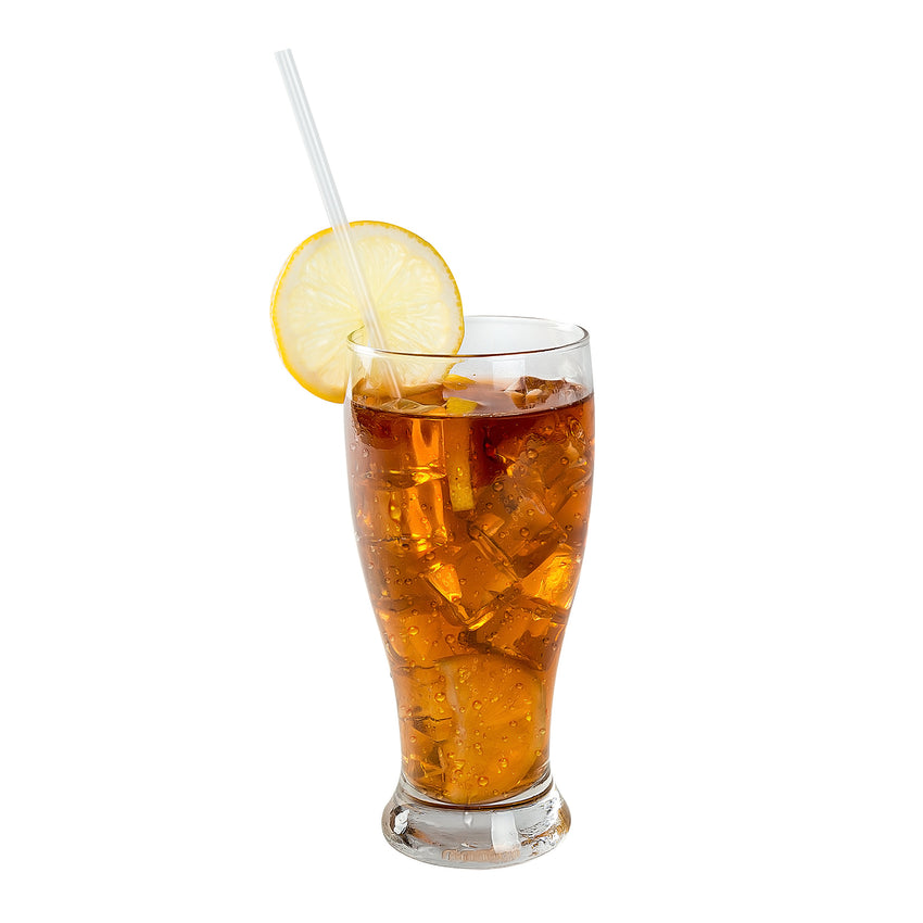 "10.25"" Jumbo Straw, Clear, Paper Wrapped, Straw in Drink"