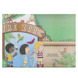 Activity Sheet, Animal Theme, Full Color, 14