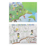 "Activity Sheet, Green Team Theme, Full Color, 14"" x 10"", Front and Back"