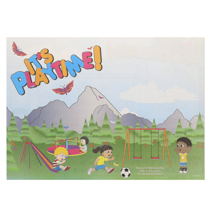 "Activity Sheet, Playground Theme, Full Color, 14"" x 10"""