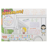 "Activity Sheet, Playground Theme, Full Color, 14"" x 10"", Back View"