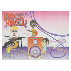 Activity Sheet, Rock N Roll Theme, Full Color, 14