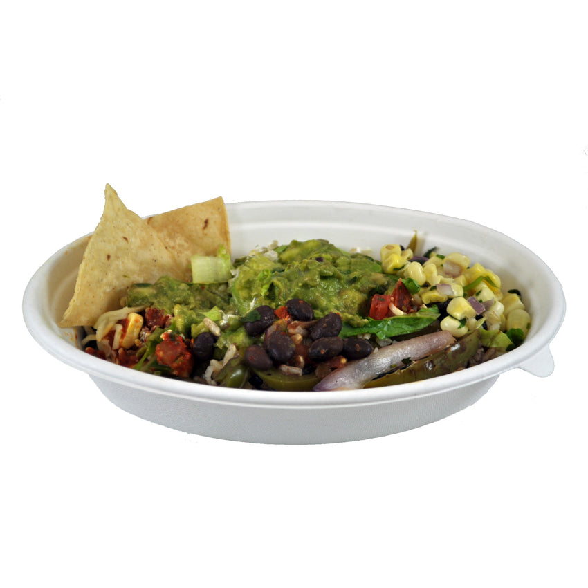 20 oz Oval Bowls, Bowl Filled With Food