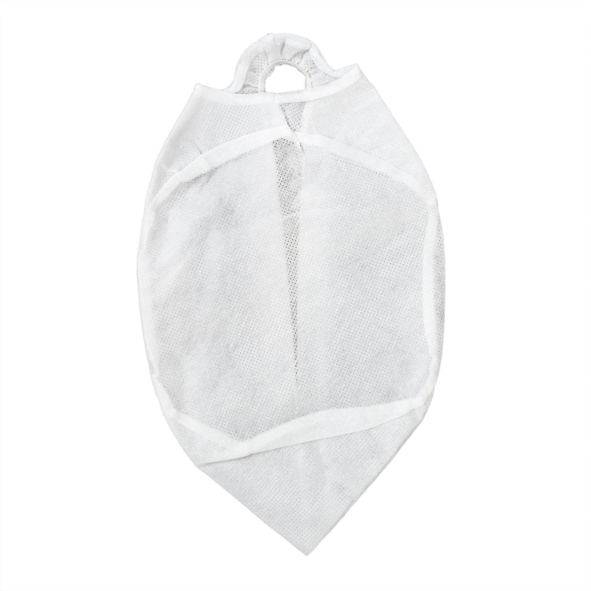 Small White Disposable Beanie Cap, Top View