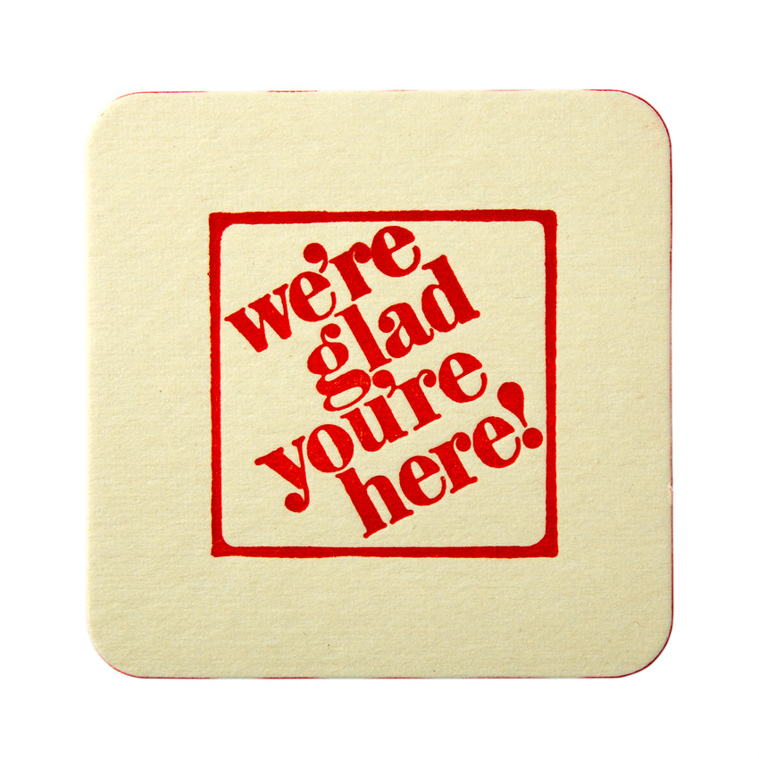 "3-1/2"" Pulp Board Square Beer Coasters, 35 PT"