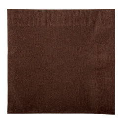 Chocolate Brown Beverage Napkin, 2-Ply, 10