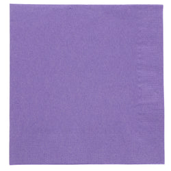 Purple Beverage Napkin, 2-Ply, 10