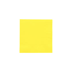 Yellow Beverage Napkin, 2-Ply, 10