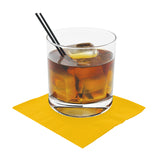 "Yellow Beverage Napkin, 2-Ply, 10"" x 10"", Napkin Under A Cocktail Glass"