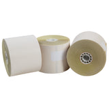 "POS Tray, 2.25"" x 90' 2 Ply Carbonless Register Rolls, Photo of Three Rolls"