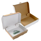 White Half Pan Corrugated Catering Box, with inverted option