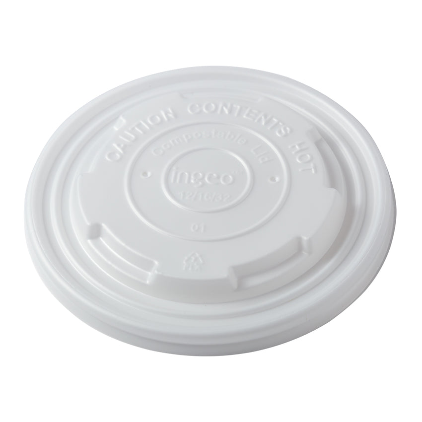 12-32 oz Compostable CPLA Lid