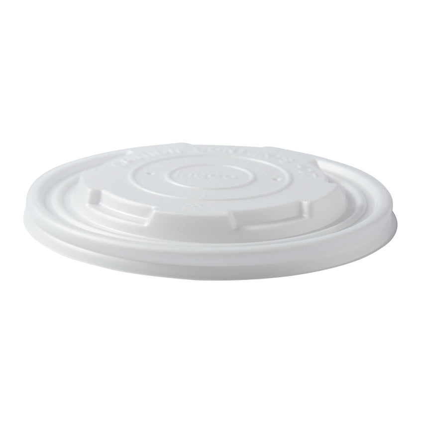12-32 oz Compostable CPLA Lid, Tilted View