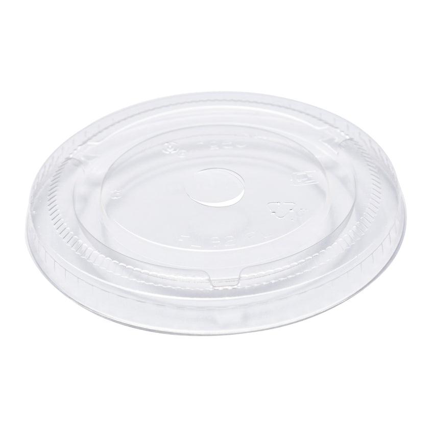 9 oz Compostable Clear CPLA Flat Lid