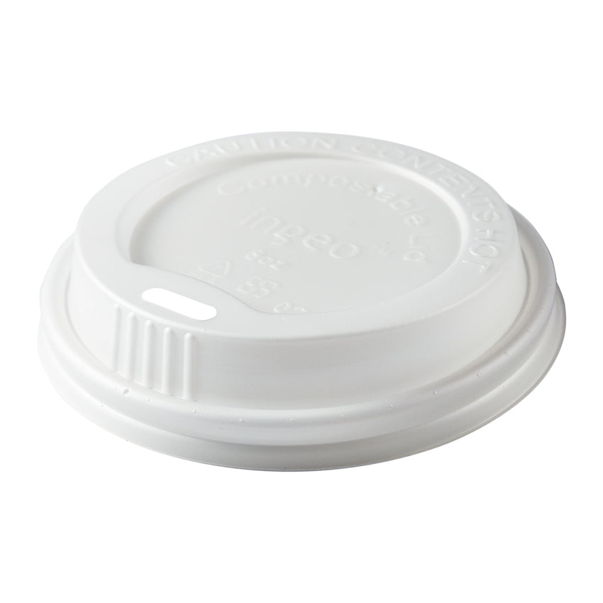 8 oz Compostable CPLA Hot Cup Lid