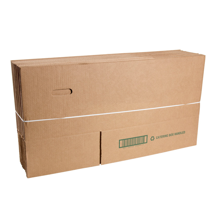 Kraft Corrugated Carry Out Box, Collapsed and Bundled