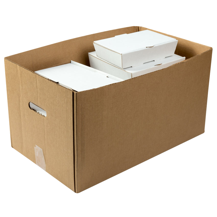 Kraft Corrugated Carry Out Box With Content Inside