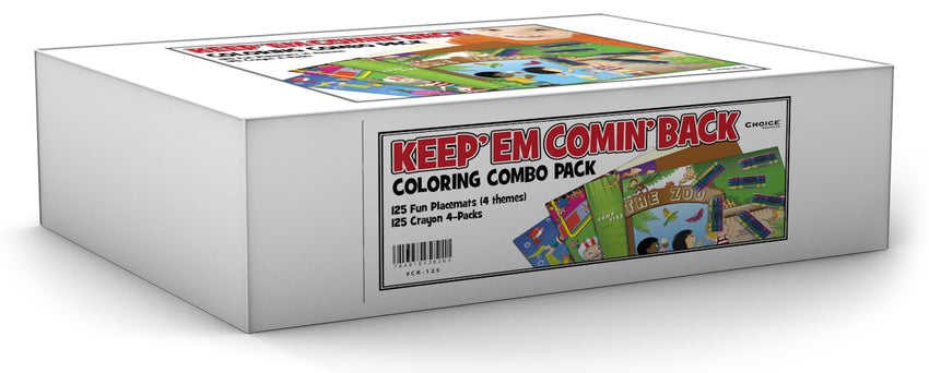 Crayon And Placemat Combo Kit, Coloring Combo Pack