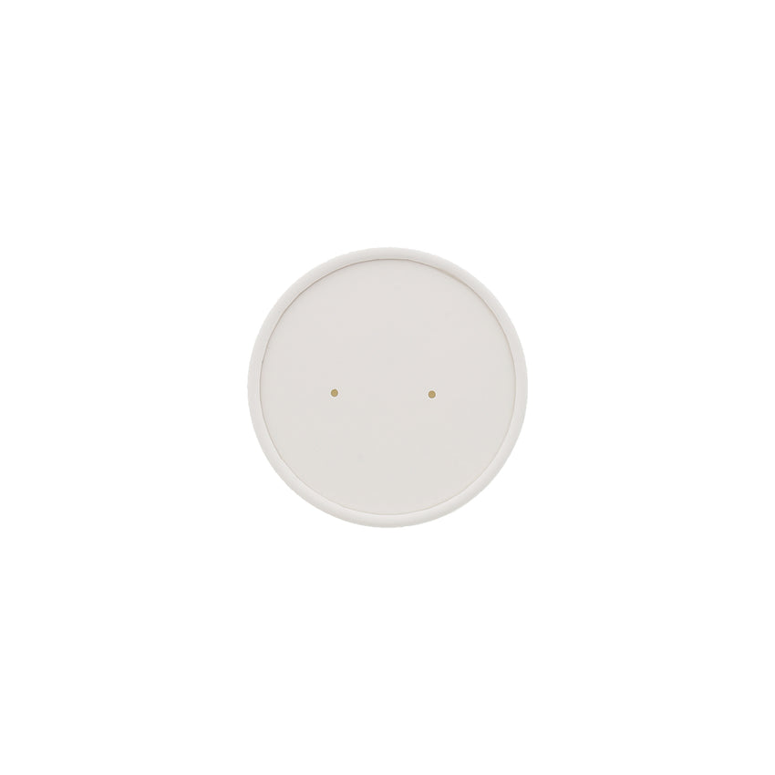 8/12 Oz. Vented White Paper Lid, Top View