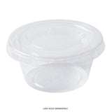 2 OZ COMPOSTABLE CLEAR PLA PORTION CUP, Cup With Lid