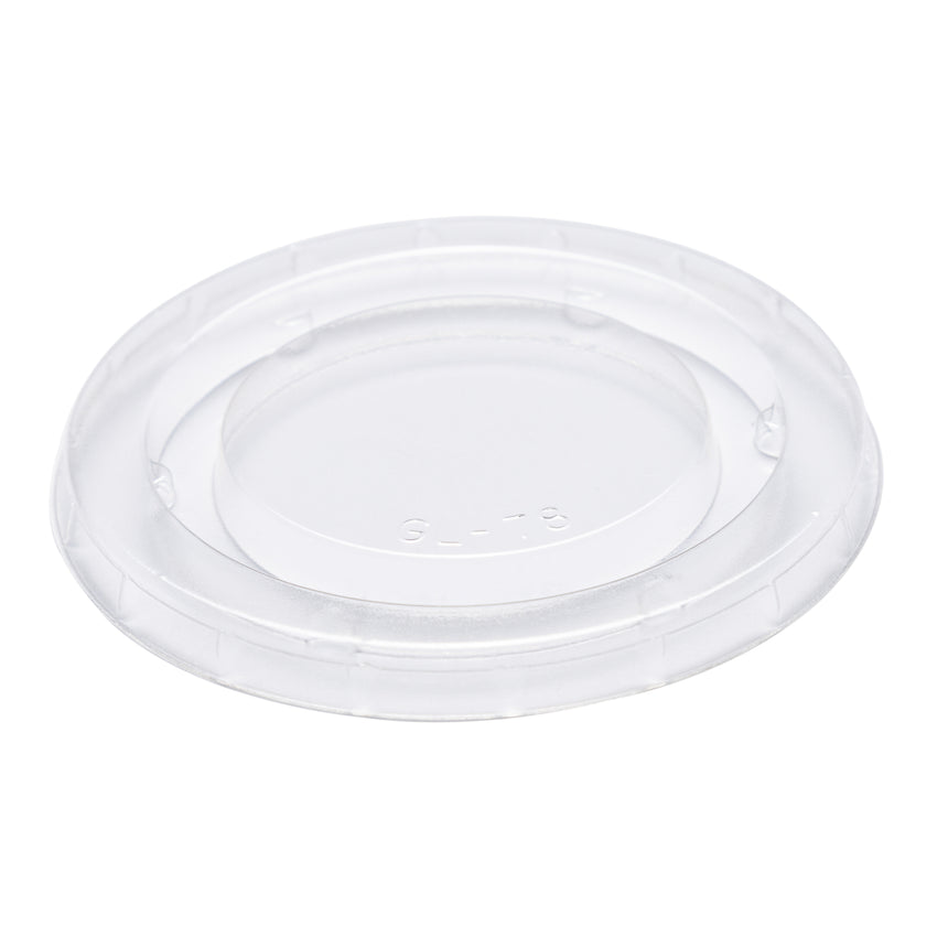 3.25-4 oz Compostable Clear PLA Lid