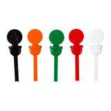 Circle Beverage Plugs, Variety Pack, Black, Orange, Green, Red and White Plugs