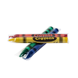Cello Wrapped 2-Pack Crayons, Pack of Blue and Green Crayons and Pack of Red and Yellow Crayons