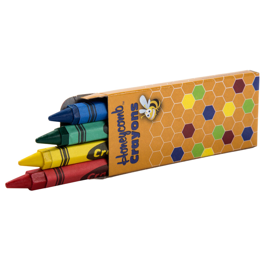 Honeycomb Crayons, 4-Pack Box, Open Box