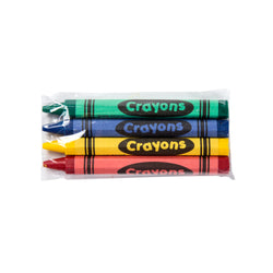 Honeycomb Crayons, Cello Wrapped, 4-Pack, Green, Blue, Yellow and Red Crayons