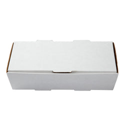 Long White Corrugated Take Out Box