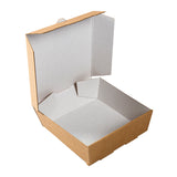 Medium White Corrugated Take Out Box, Reverse Box