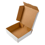 Medium White Corrugated Take Out Box, Open Box